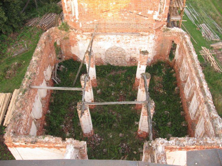 Спасская церковь  1785 год вид с квадрокоптера